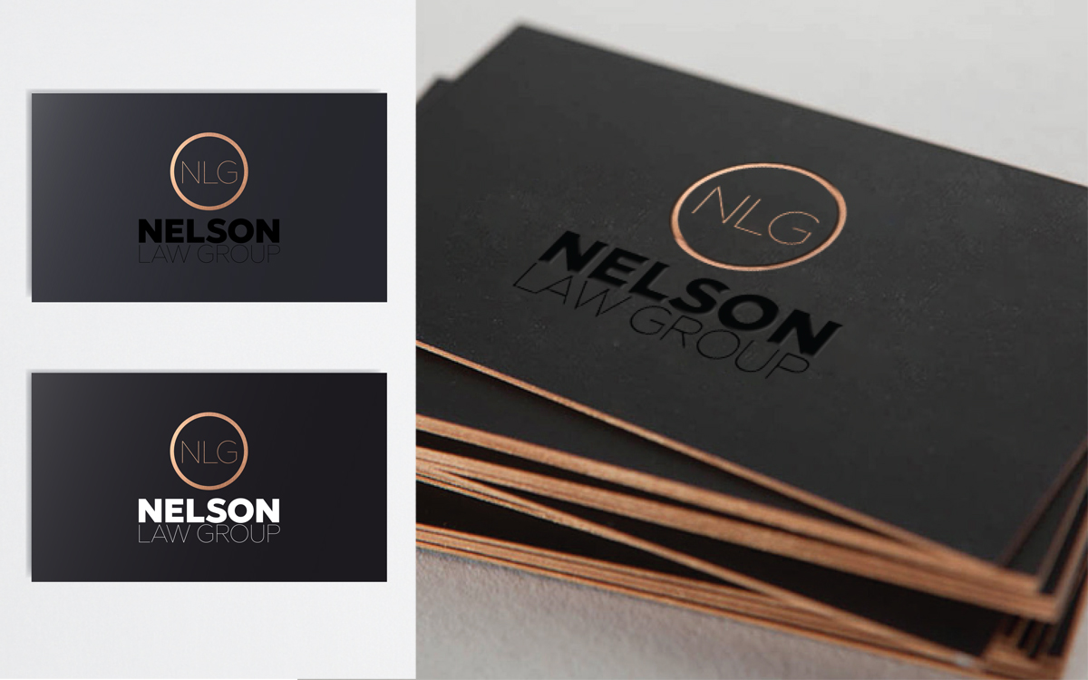 Nelson law group new frame creative for nelson law group a law firm in knoxville tennessee the business cards feature a beautiful copper foil printed onto a suede finished black reheart Gallery